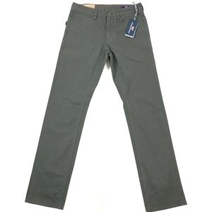 VV Straight Fit 5-Pocket Canvas Solid Pants